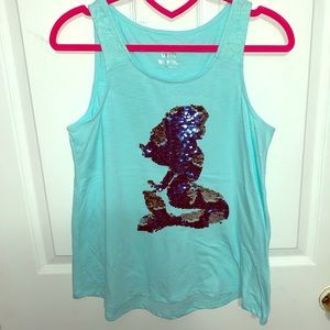 Big Girl's Justice reverse sequins top